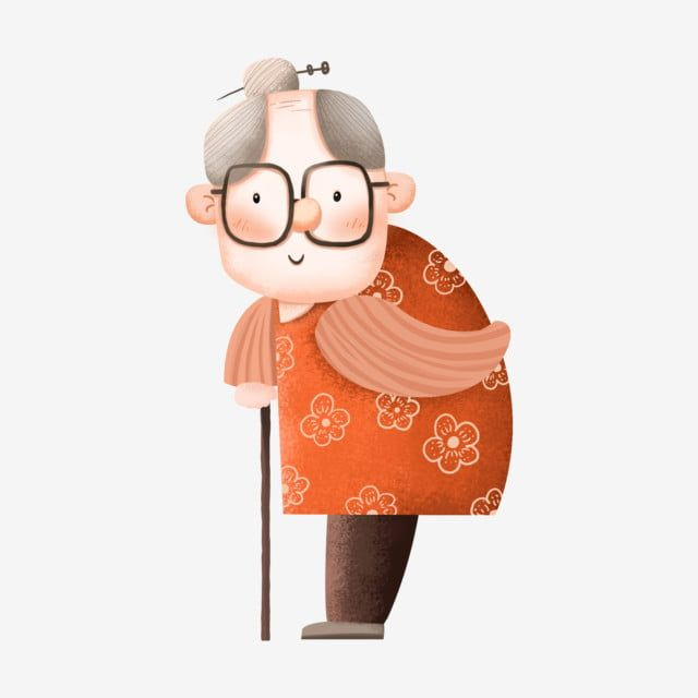 Older Grandmother Decoration Cartoon Cute Expression Commercial Element Grandma Decorative Pattern Design Element Png Transparent Clipart Image And Psd File Cartoon Design Element Clip Art