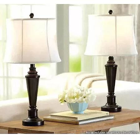 Living room or possibly bedroom Better Homes and Gardens Transitional Lamp, Dark Bronze Finish, 2pk
