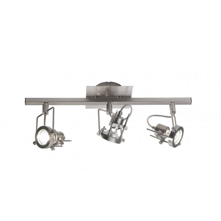Dar BAU7346 Bauhaus 3 Light Bar Satin Chrome GU10 complete with Bulbs