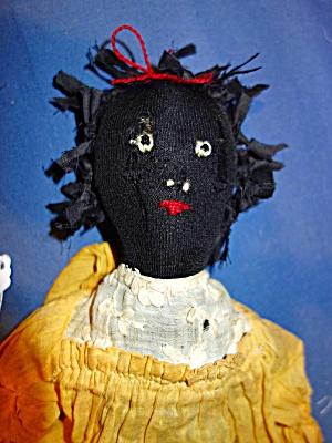 Black Folk Art Doll cloth