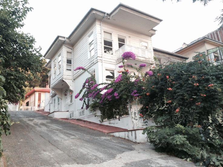 House on the uphill road, Heybeliada, Istanbul.