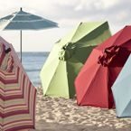 Umbrella Sale < big sale going on now!  I just ordered my orange/ rust colored umbrella for my back deck!
