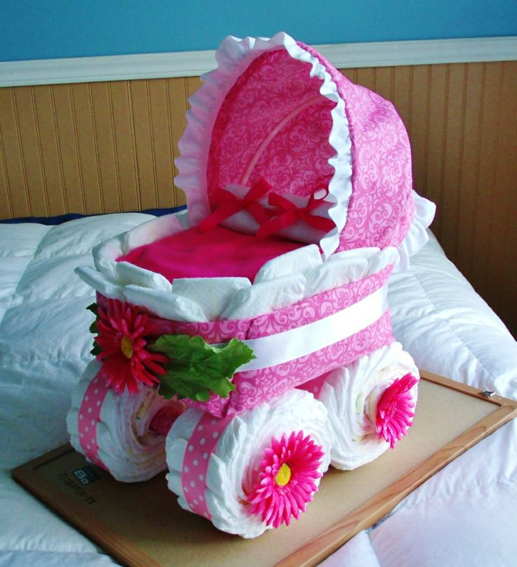 Baby Bassinet Diaper Cake Girl For Rachel Crafts