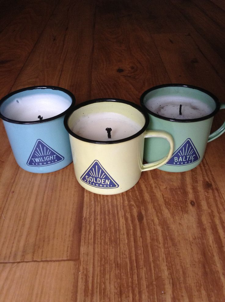 A trio of camping themed candles. #anthrofav