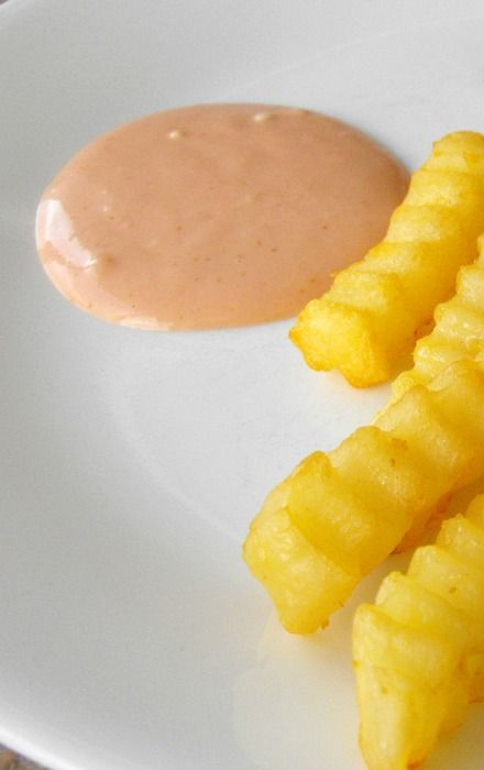 Fry sauce that also goes well with fish sticks...ketchup, mayo, worcestershire sauce, and tabasco sauce