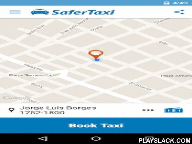 SaferTaxi - Safer, Easy, Fast  Android App - playslack.com ,  Available for FREE in Buenos Aires, Montevideo, Santiago de Chile, Sao Paulo (SP) and Rio de Janeiro.Request a cab near you in 1 quick click. It is easy! Track your driver's arrival in real-time, and hold the driver accountable by rating him/her at the end of the ride. It IS FREE! You only pay the taxi meter fare. Taxi? SaferTaxi!WHY USE SAFERTAXI?- FREE: Safer Taxi is free to download and use. You only pay what is shown on the…