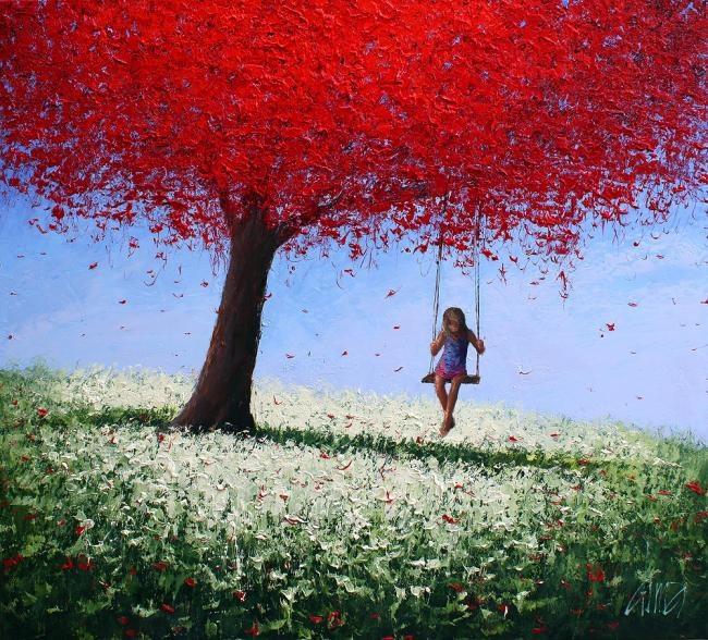Dima Dmitriev: The Girl on a Swing | Swing | Pinterest ...