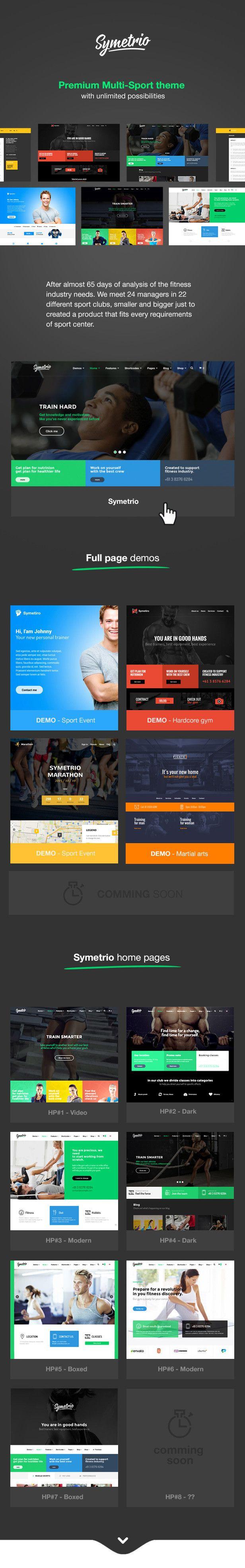 WordPress - Symetrio – Multi-Sport, Gym, Fitness Theme | ThemeForest