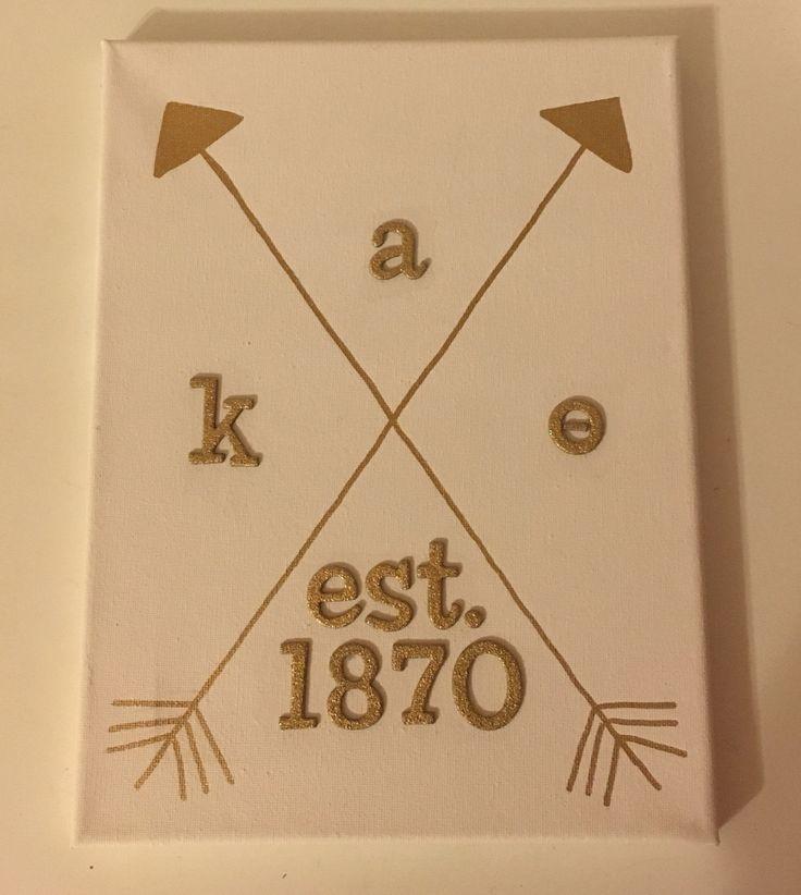 Kappa Alpha Theta ΚΑΘ gold arrow sorority canvas                                                                                                                                                                                 More