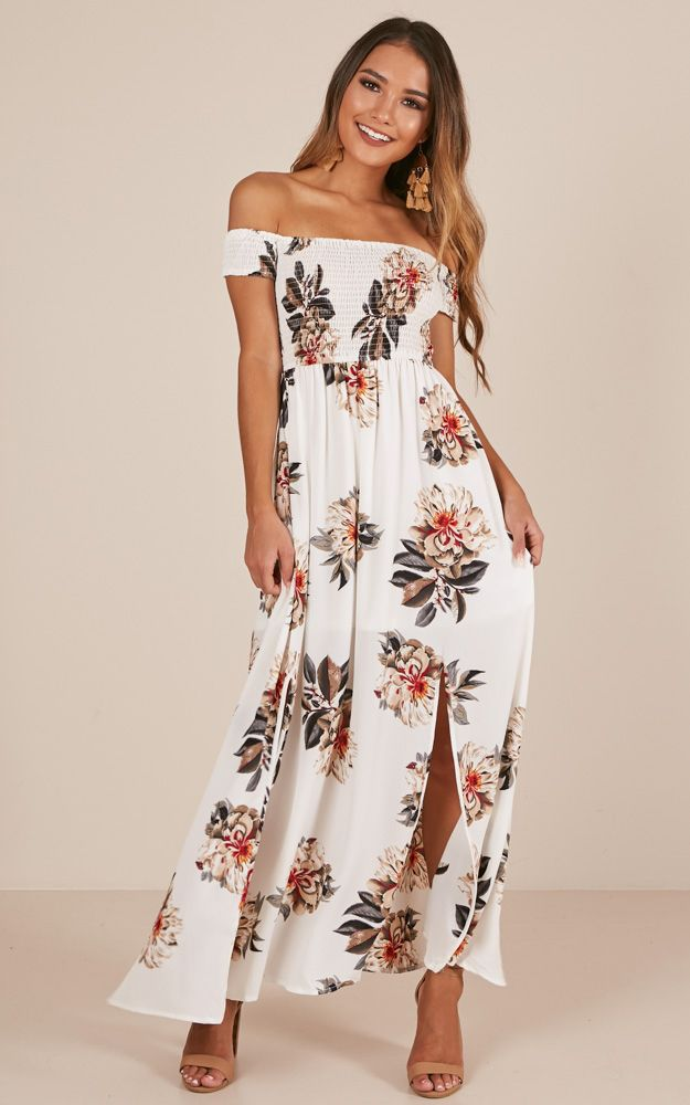 brand new wholesale sales save up to 80% Daytime Dancer Maxi Dress In Cream Floral Produced | Fashion ...