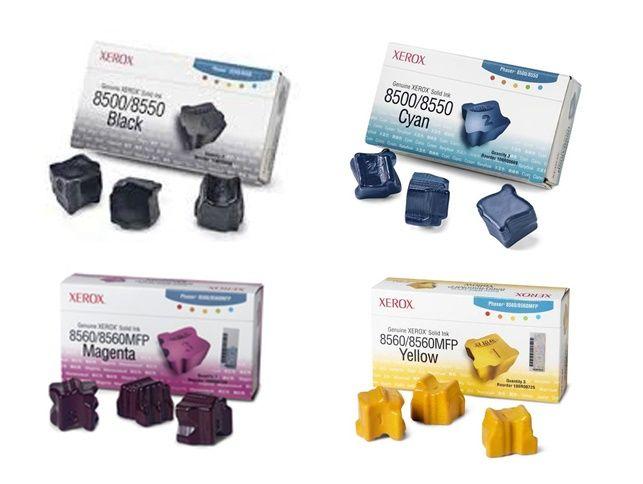 Toner Fuji Xerox Phaser 8500/ 8550 yaitu Fuji Xerox 108R00901, 108R00898, 108R00899, 108R00900 Ink Stix Fuji Xerox 108R00901 - Colour : Black - Page yield