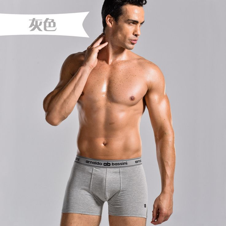 4PCS / mens bamboo fiber Cotton underwear