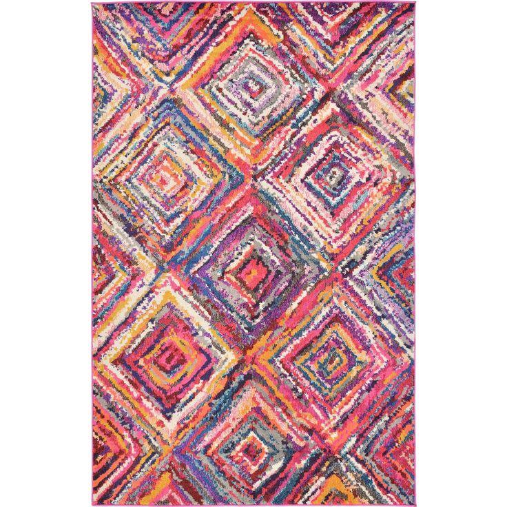 Unique Loom Barcelona Multicolor Synthetic Rug