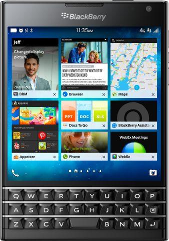 Black BlackBerry Passport