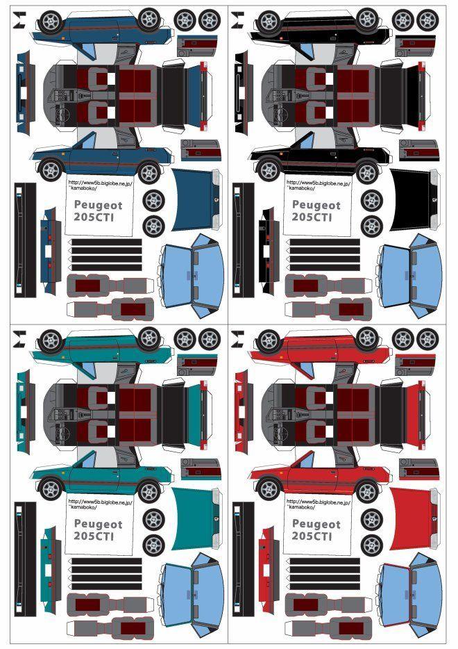Peugeot 205 Cabriolet Et 206 Maquettes Modeltraindiy Modelos De