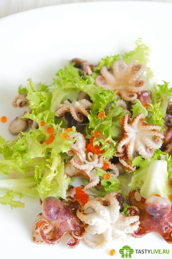 Салат с осьминогами | Salad with small octopus