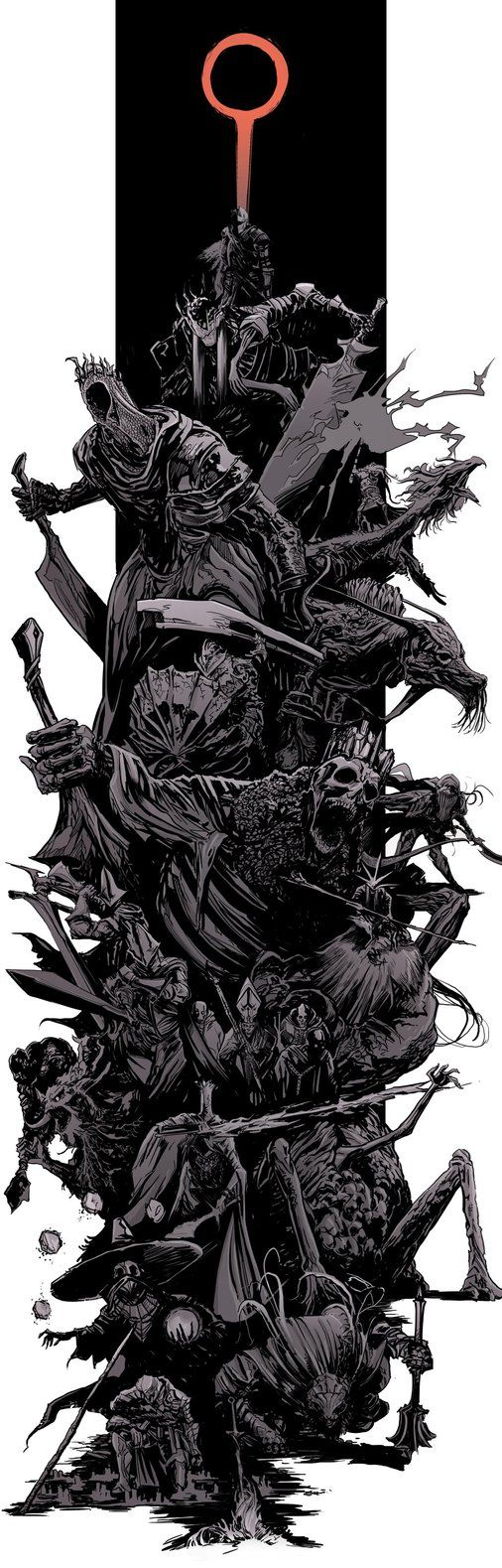 DarkSouls3 - bosses splash by uger.deviantart.com on @DeviantArt