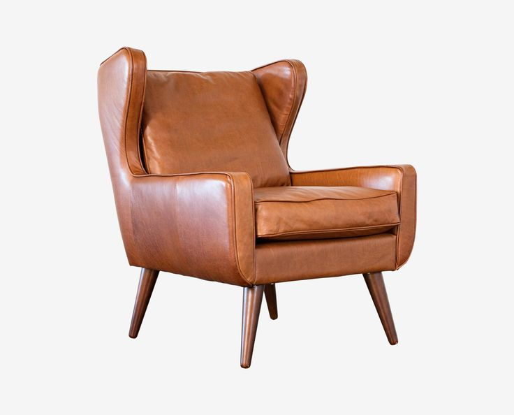 updated take on the classic wingback chair the giesen leather chair