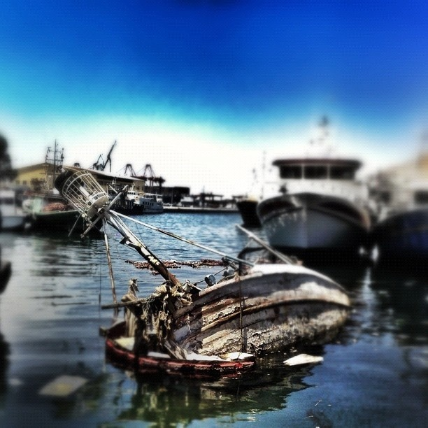 Shipwreck in port, that's disaster :( - @ideastudios- #webstagram