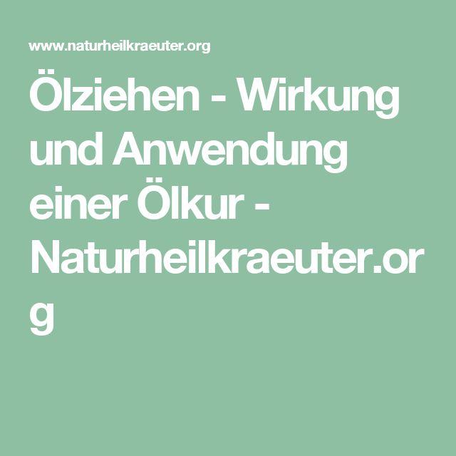 Ölziehen - Wirkung und Anwendung einer Ölkur - Naturheilkraeuter.org