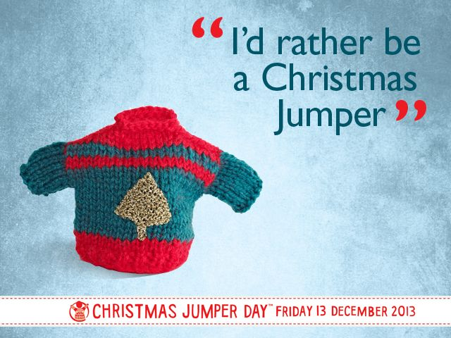 We have our festive jumpers at the ready for #xmasjumperday tomorrow! Make sure you're wearing the right kind of jumper this #xmasjumperday, Friday 13 December!