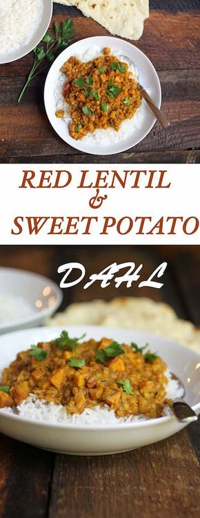 An amazing vegan red lentil dahl recipe with sweet potatoes and ready in under 30 minutes! // Endurance Zone