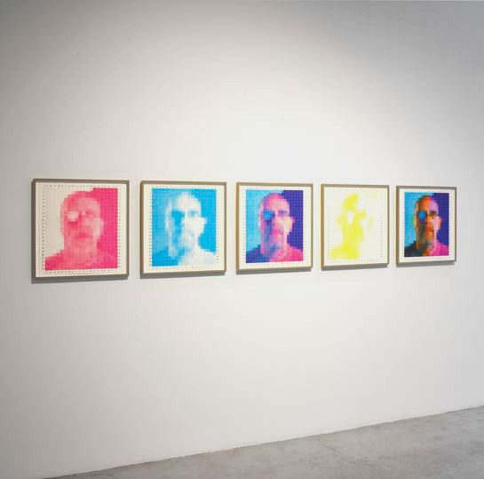 Chuck Close, Red Yellow Blue Exhibition (2015)