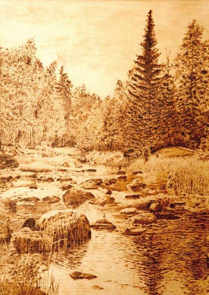 Картинки с природой для выжигания