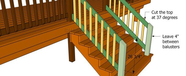 Step by step instructions on how to build a porch stair rail.