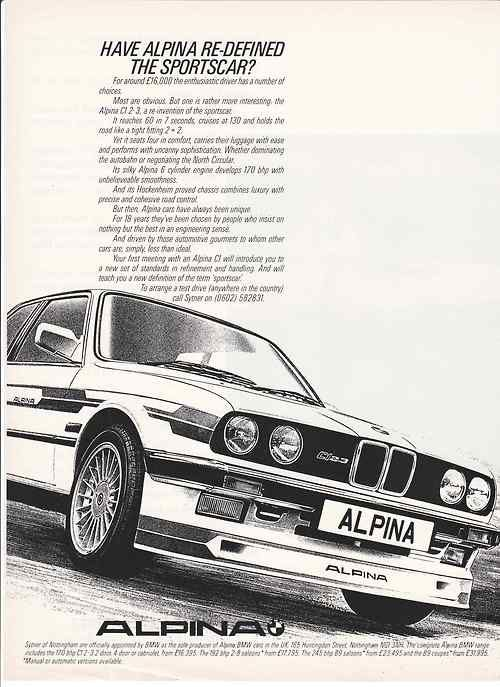 BMW Alpina advertisement