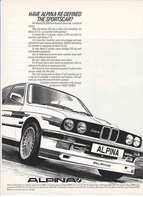 BMW Alpina advertisement