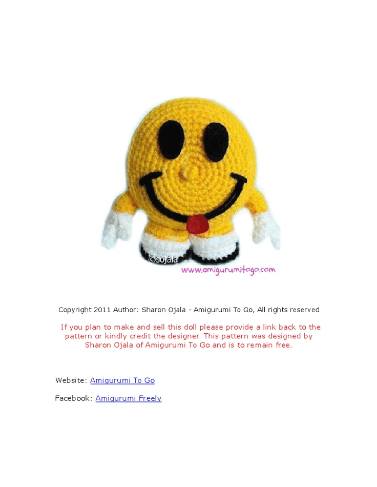 Crochet Amigurumi Smiley Faces : The 15 best images about Free Assorted Amigurumi Patterns ...