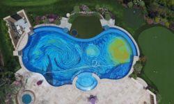 Πάτος πολυτελούς πισίνας έγινε η «Έναστρη Νύχτα» του Βαν Γκογκ