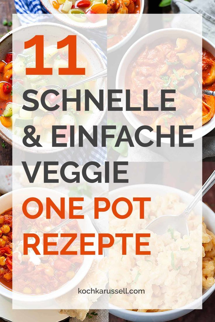 11 recettes faciles et rapides de Veggie One Pot  #faciles #rapides #recettes #v…