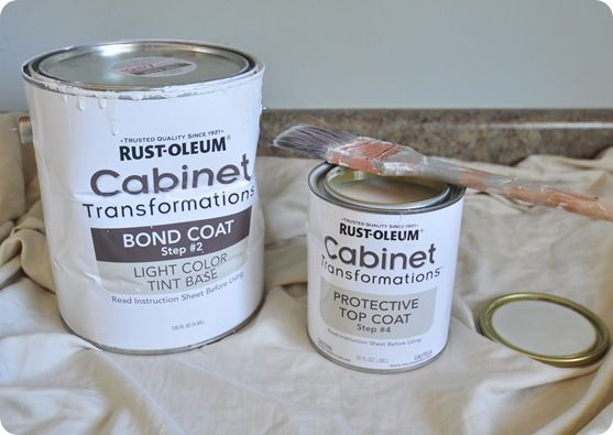great kitchen makeover with rustoleum cabinet kit