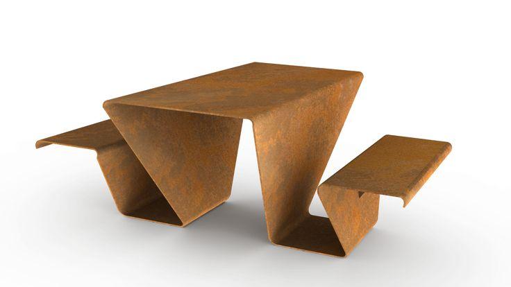 :: Havens South Designs :: loves this garden furniture/sculpture. Cor-ten steel. Design by sDesign