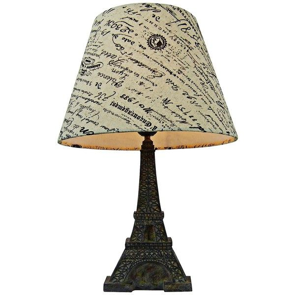 Eiffel Tower Paris Brown Slate Table Lamp (59 CAD) ❤ Liked On Polyvore