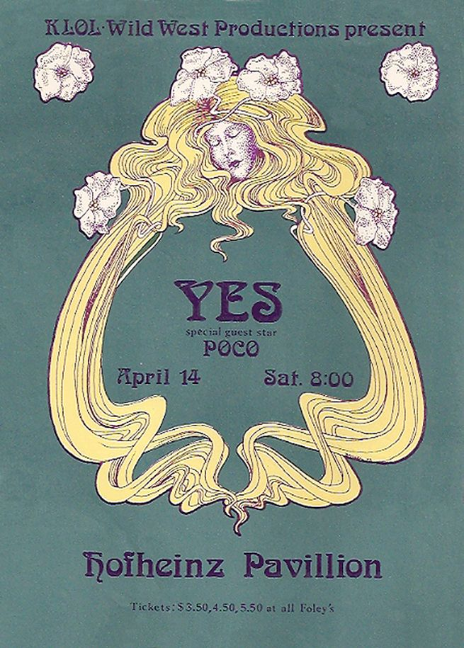 Yes 1973 Houston Concert Posters Vintage Concert Posters Rock
