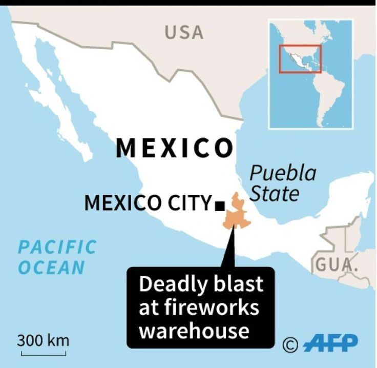 Blast at Mexico fireworks warehouse kills at least 14