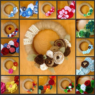 Great idea to use velcro and make an interchangable wreath!