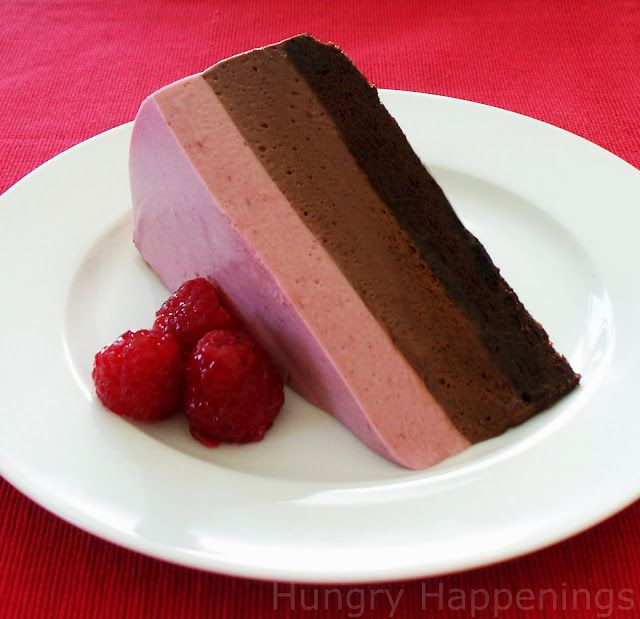 Chocolate Raspberry Mousse Cake!