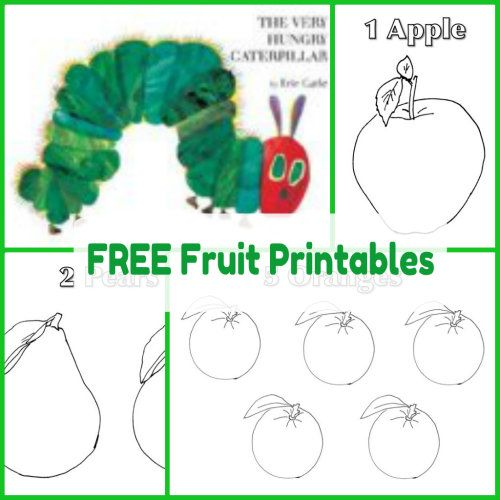 free homeschool worksheets - hungry caterpillar
