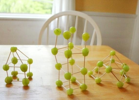 Edible Art! Grape + Toothpick Sculptures snack idea
