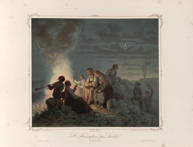 Norske Folkelivsbilleder 07 - St. Hansaften paa Landet (Knud Bergslien). jpg (1280×974)