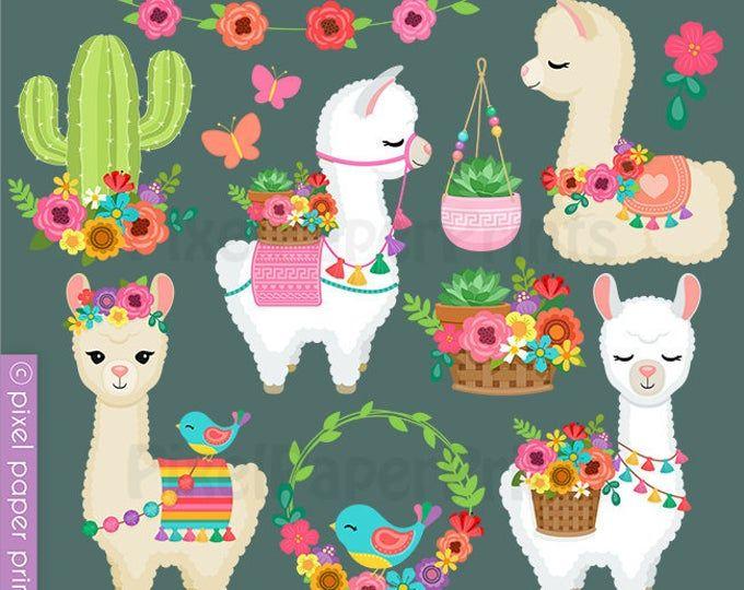 Clip Art Images By Pixel Paper Prints Ot Pixelpaperprints Na Etsy Dibujos De Macetas Dibujos Bonitos De Animales Fiesta De Cactus