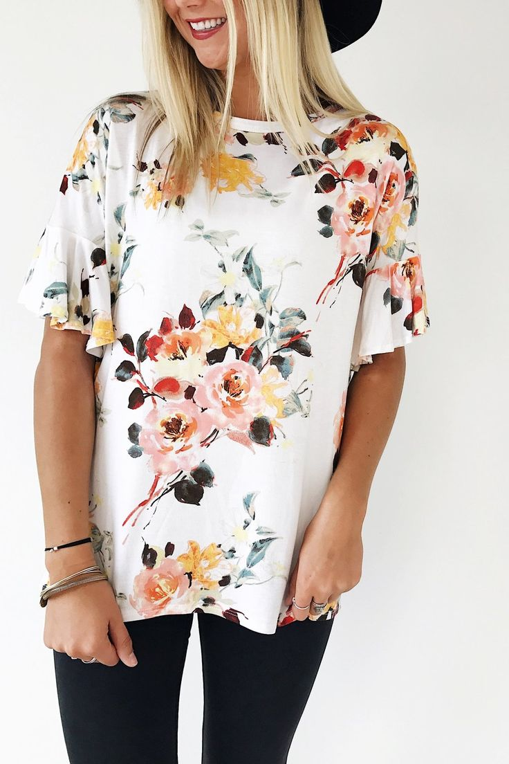 Ivory Floral Blouse | ROOLEE