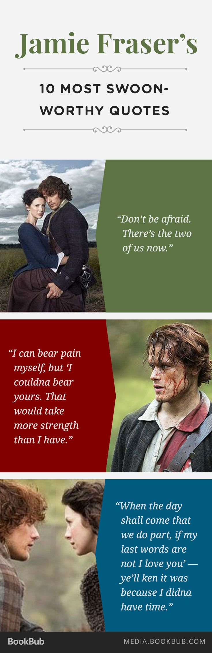 Outlander fans: Check out 10 of Jamie Fraser's most swoon-worthy quotes.