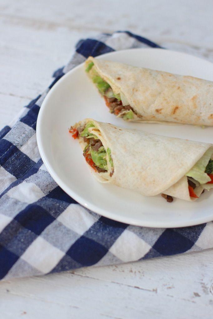 Vegetarische wraps met linzen