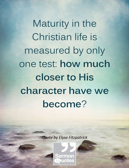 Maturity In The Bible