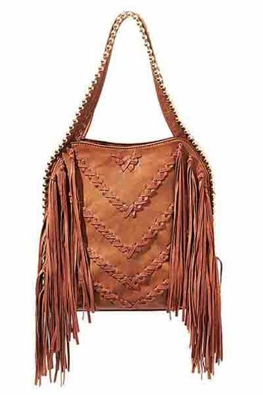 Big Buddha Graya Tobacco Fringe Hobo Bag Love love love for fall